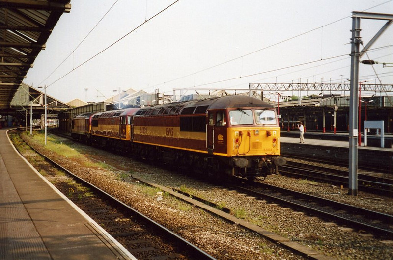 56038 and 56115, Crewe. May 2003.