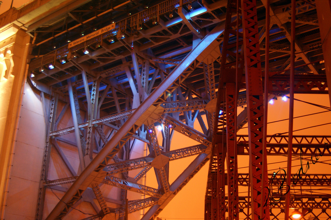 Photo By Robert Bodnar......................................Veterans Memorial  Bridge under side