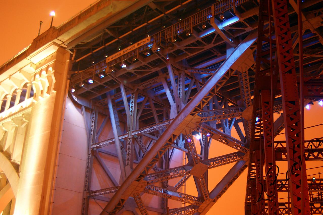 Photo By Robert Bodnar......................................Lights on the Veterans Memorial Bridge