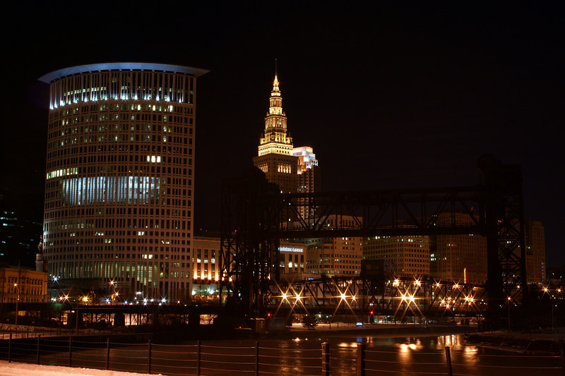 Photo By Robert Bodnar..............................................Cleveland Ohio at Night