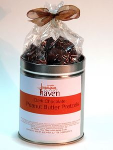 Dark Chocolate Peanut Butter Pretzels tin Photo: 159