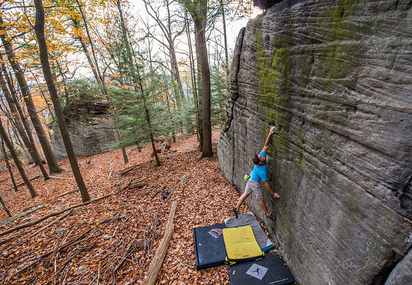 Mountaineers Route_Joey Williams_Coopers Rocks_WV_photos by Gabe DeWitt_October 28, 2014-1