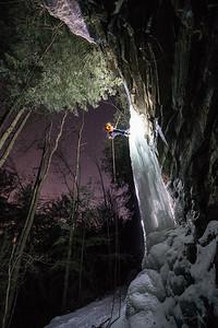 Gabe DeWitt_Swallow Falls Ice Climbing_January 29, 2014--25