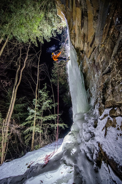 Gabe DeWitt_Swallow Falls Ice Climbing_January 29, 2014--26