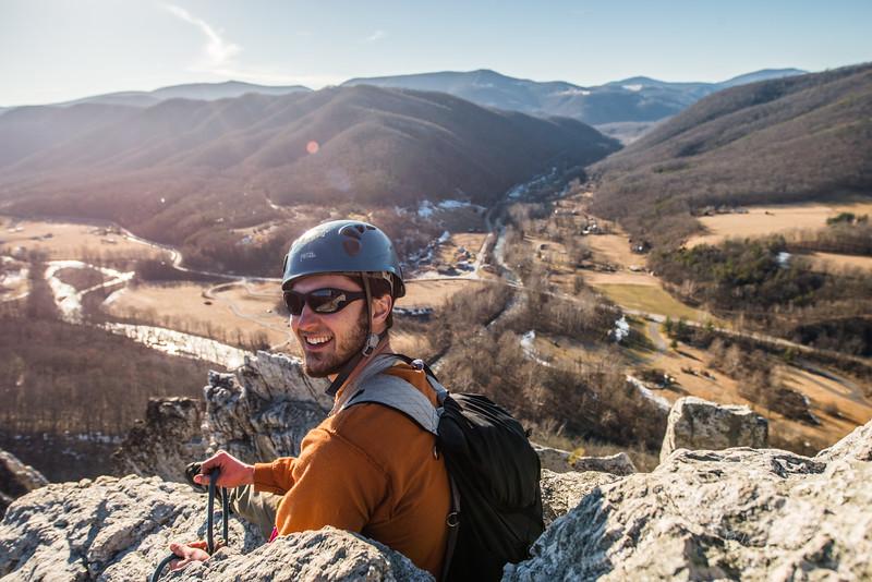 Seneca Rocks Climbing_photos by Gabe DeWitt_February 22, 2014--24