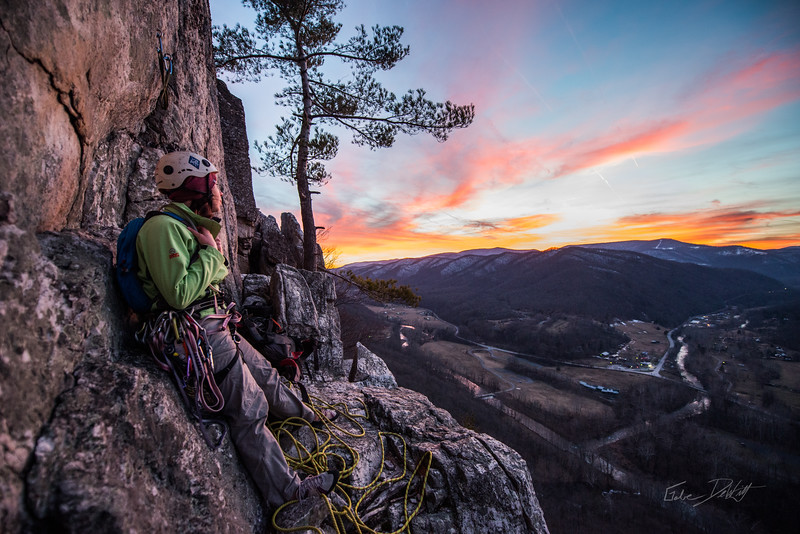 Climbing_Seneca Rocks_West Virginia_photo by Gabe DeWitt_February 07, 2015-169