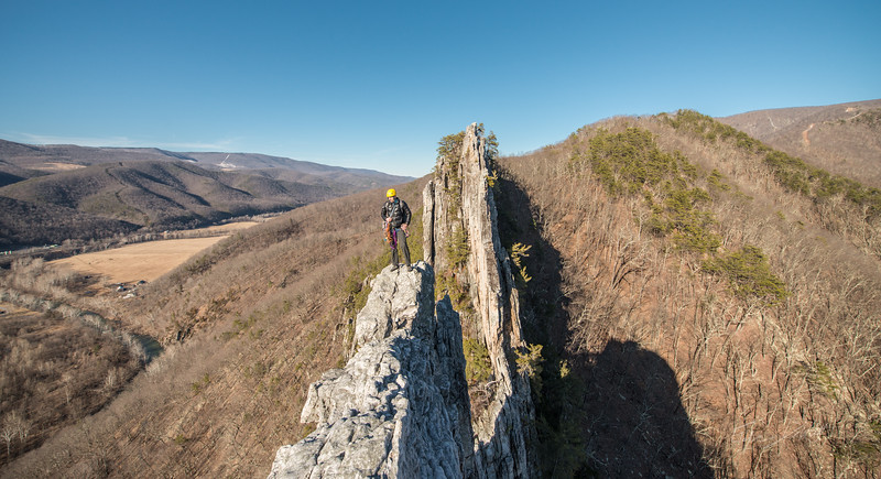 Seneca Rocks Climbing_photos by Gabe DeWitt_February 22, 2014--19