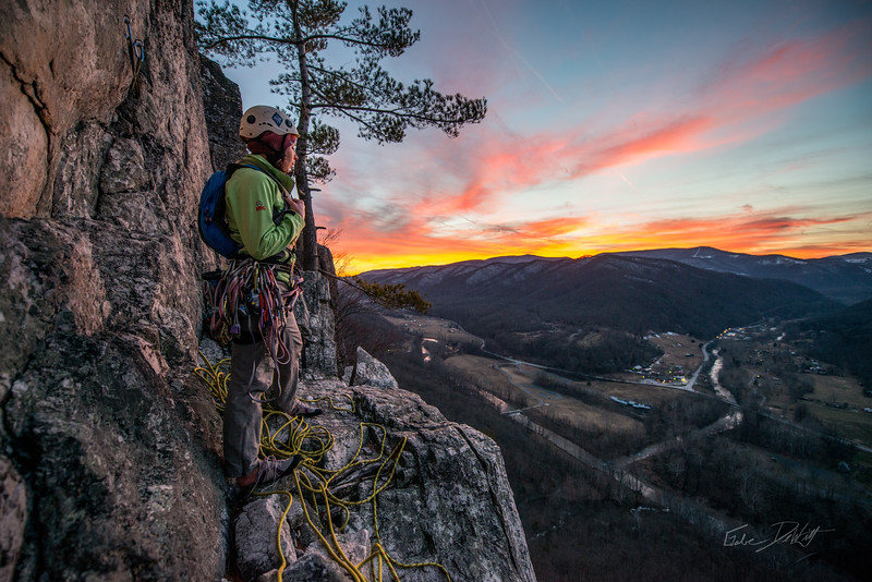 Climbing_Seneca Rocks_West Virginia_photo by Gabe DeWitt_February 07, 2015-181