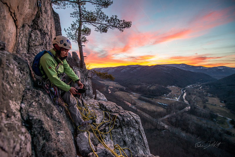 Climbing_Seneca Rocks_West Virginia_photo by Gabe DeWitt_February 07, 2015-172