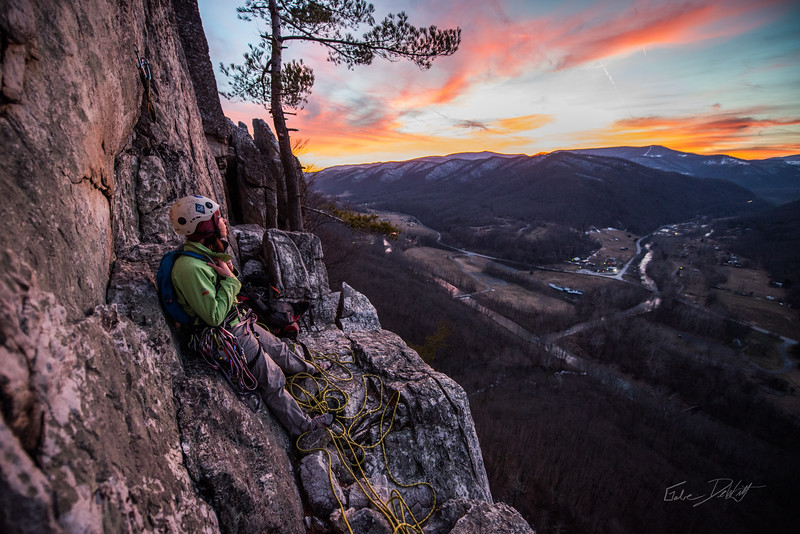 Climbing_Seneca Rocks_West Virginia_photo by Gabe DeWitt_February 07, 2015-168
