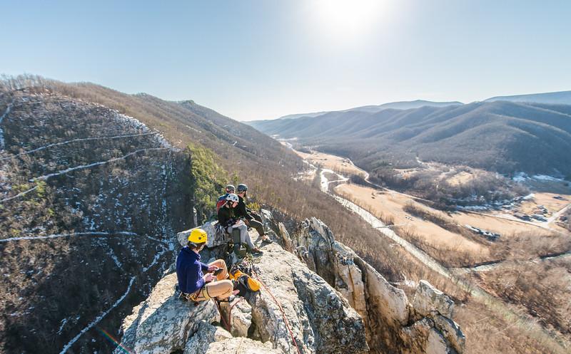 Seneca Rocks Climbing_photos by Gabe DeWitt_February 22, 2014--18