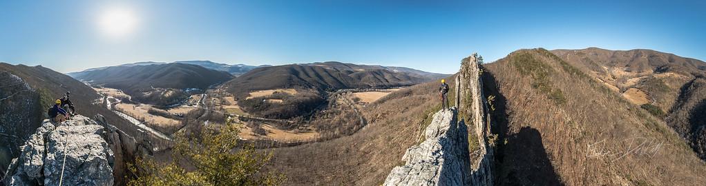 Seneca Rocks Summit Panorama