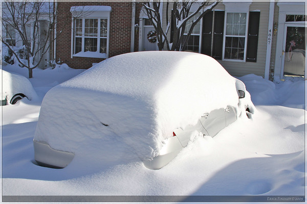 This is my car before I dug it out...it took me right at an hour to reveal it in its entirety!