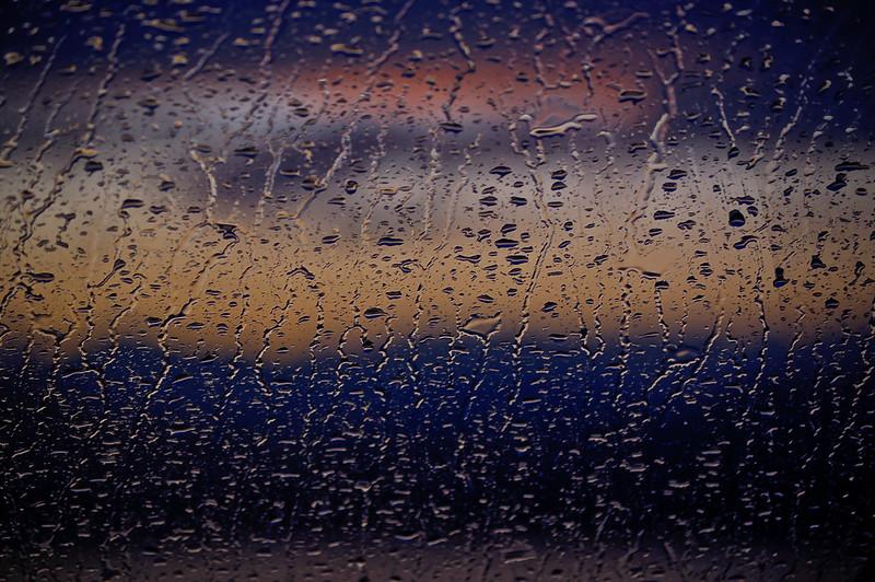 Raining; Salinas, Bani, DR-sunset background