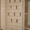 Slot wall great for necklaces, scarves, purses,hats