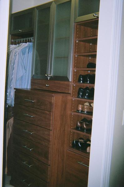 Wood color melamine and aluminum doors