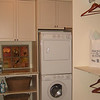 Folding table & washer/dryer in closet