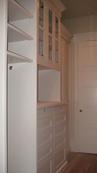Painted closet, locked jewerly drawers