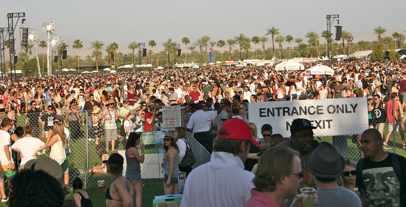 Main stage viewing area