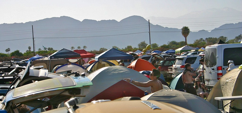 More car camping area