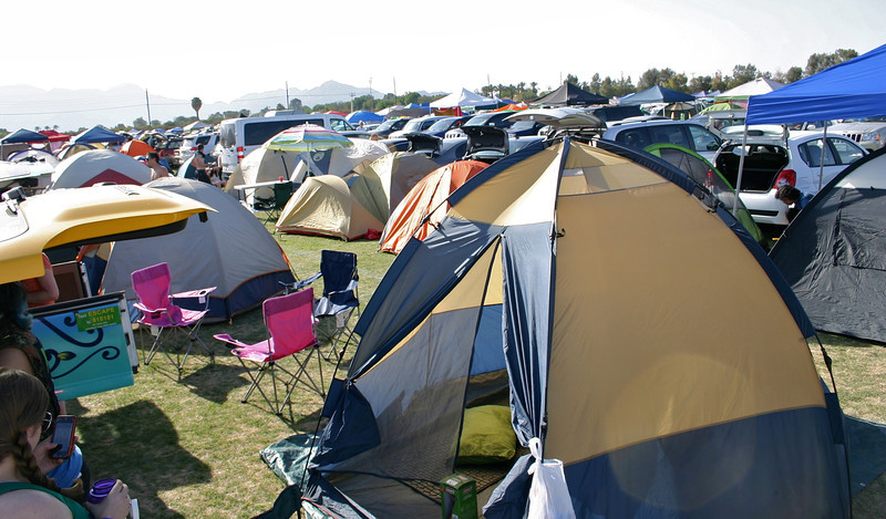 Car camping area