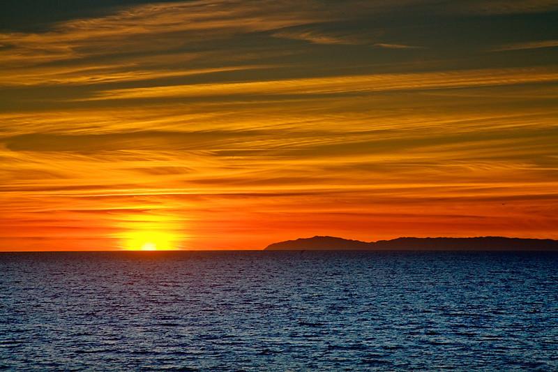Sunset Next to Catalina - Laguna Beach, California