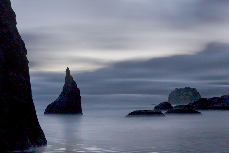 Sea Stacks in Gray - Bandon