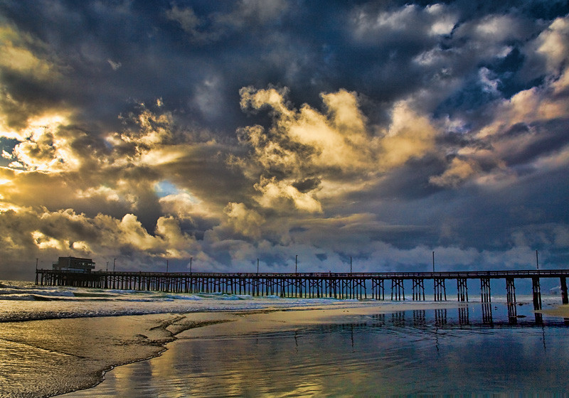 Newport Pier Stormy Sunset - Newport Beach, CA