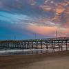 Sunset over Oak Island Fishing Pier