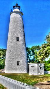 Ocracoke Light - HDR Ocracoke Island, North Carolina