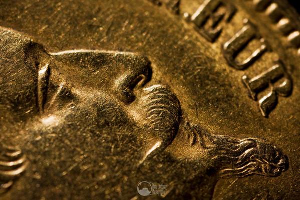Napoleon III 20 Franc coin (1863).