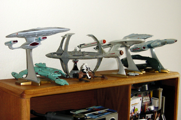 Most, but not all, of my Star Trek starship collection...and these are definitely not to scale with one another