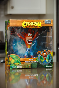 I debated whether or not I should order this statue given that it was issued for the recent Crash Bandicoot N Sane Trilogy...for which I did not receive direct credit, even though it is a remaster of games I originally worked on twenty years ago and I may have helped a tiny bit regarding the original assets.  One way or another, I certainly WANTED to be involved.