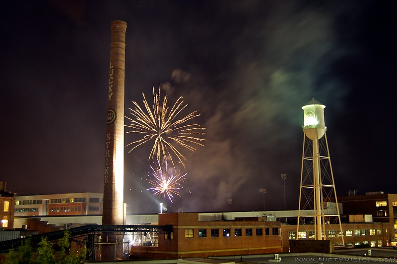 American Tobacco Campus - Durham, NC<br /> Taken during the Independence Day Fireworks show. (July 5, 2011)