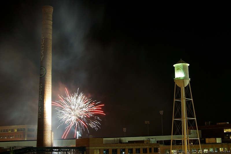 Independence Day Fireworks over Downtown Durham