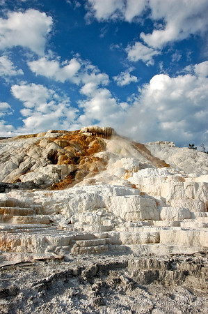 Morning clouds over Mammoth Hot Springs