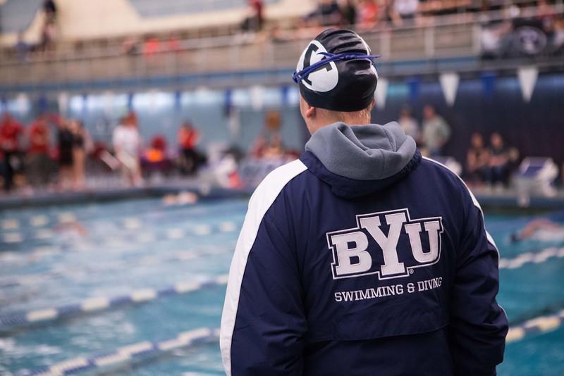 13-14 SWM vs Utah 001  Mens and women's swim and dive meet vs University of Utah, U of U  BYU - 128  Utah - 172  January 24, 2014  Photo by: Todd Wakefield  © BYU PHOTO 2014 All Rights Reserved photo@byu.edu   (801)422-7322