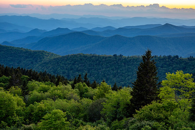 Cowee Mountain Overlook on the Blue Ridge Parkway