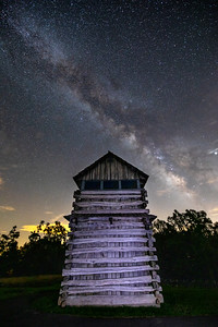 Milky Way over old fire tower