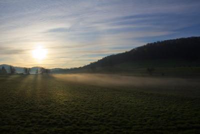 Sunrise. Adney Gap. Blue Ridge Parkway, VA
