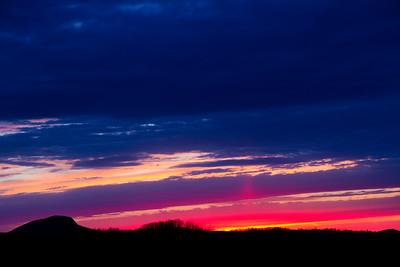 Buffalo Mountain Sunset. Blue Ridge Parkway, VA