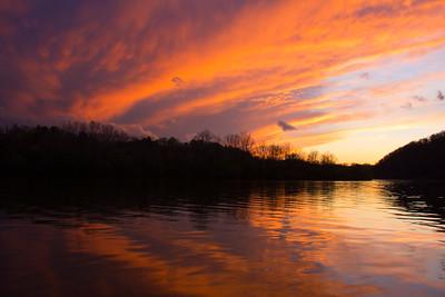 Sunset over the New River, VA