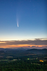 Neowise from the Blue Ridge Parkway