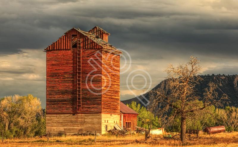 Colorado Barn at Sunset
