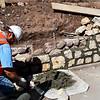 Building a Rock Wall in Vail Colorado
