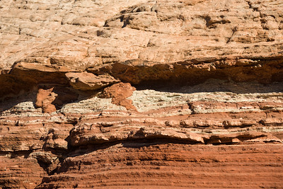 Sedimentary rock layers near Shafer Canyon in Canyonlands National Park, Utah