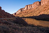 Scenic Highway 128 and Colorado River northeast of Moab, Utah