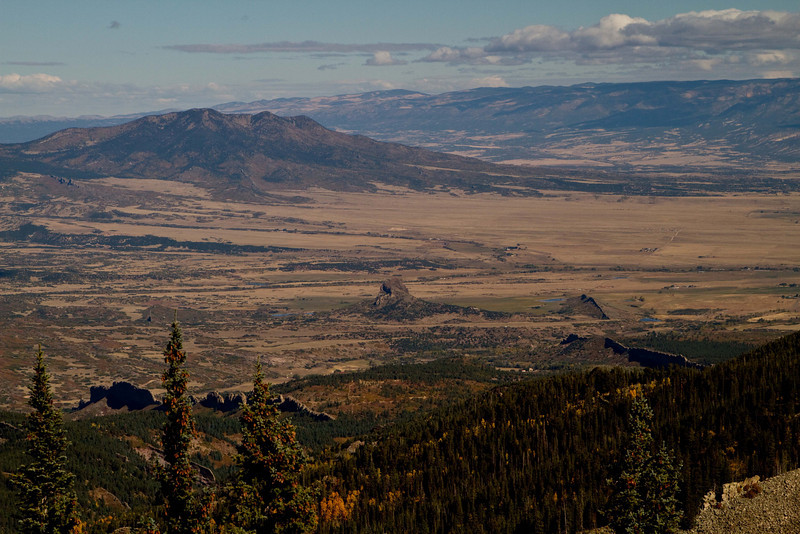 Looking toward La Veta from West Spanish Peak.<br /> Photo © Carl Clark