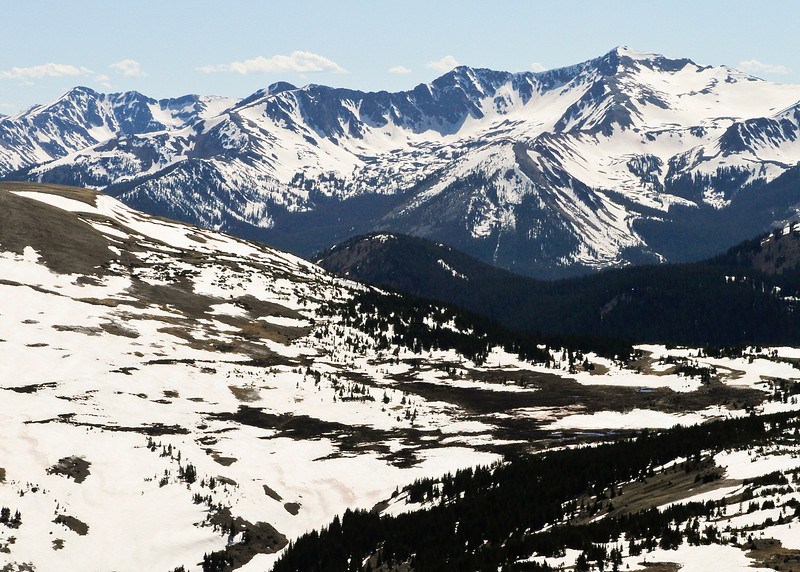 Never Summer Mountains from Trail Ridge Road summit