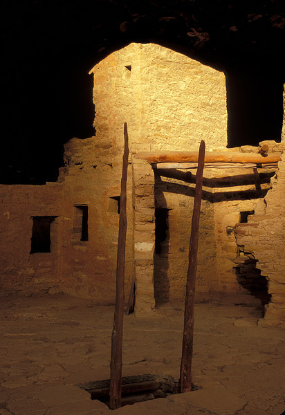 Mesa Verde's haunting ruins catch the last day's light.<br /> Photo © Cindy Clark